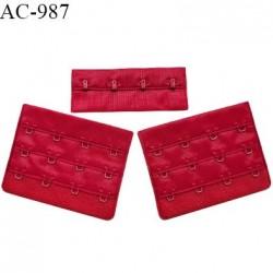 Agrafe 76 mm attache SG haut de gamme couleur rouge baiser 3 rangées 4 crochets largeur 76 mm hauteur 57 mm prix à l'unité