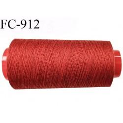 Cone 1000 m de fil mousse polyamide fil n° 120 couleur rouge safrané  longueur de 1000 mètres bobiné en France