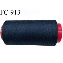 Cone 1000 m de fil mousse polyamide fil n° 120 couleur bleu astral longueur de 1000 mètres bobiné en France