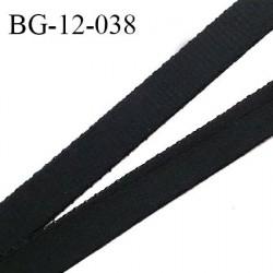 Devant bretelle 12 mm en polyamide attache bretelle rigide pour anneaux couleur noir haut de gamme prix au mètre