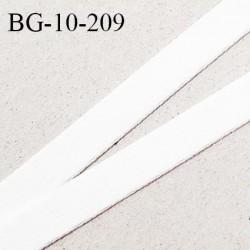 Devant bretelle 10 mm en polyamide attache bretelle rigide pour anneaux couleur blanc haut de gamme prix au mètre