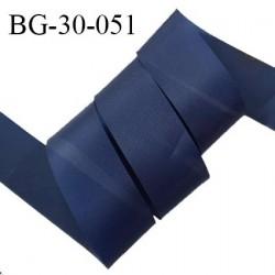 Biais à plier 30 mm synthétique fin et légèrement brillant couleur bleu largeur 30 mm prix au mètre