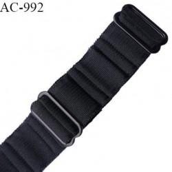 Bretelle 19 mm lingerie SG haut de gamme couleur noir avec deux barrettes largeur 19 mm longueur 25 cm prix à la pièce