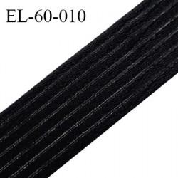 Elastique 60 mm respirant bonne élasticité style velours velcro couleur noir largeur 60 mm prix au mètre