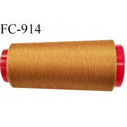 Cone de fil 5000 m mousse polyester n° 160 polyester couleur ocre longueur 5000  mètres bobiné en France
