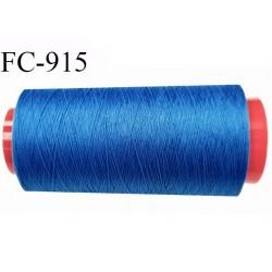 Cone 2000 m de fil mousse polyamide fil n° 120 couleur bleu longueur de 2000 mètres bobiné en France
