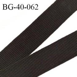 Galon ruban 40 mm gros grain 100% coton couleur café largeur 40 mm prix au mètre