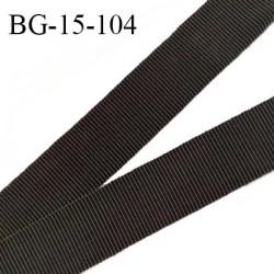Galon ruban 15 mm gros grain 100% coton couleur café largeur 15 mm prix au mètre