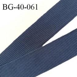 Galon ruban 40 mm gros grain 100% coton couleur bleu largeur 40 mm prix au mètre