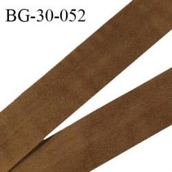 Galon ruban 30 mm lacette suedine couleur marron largeur 30 mm prix au mètre