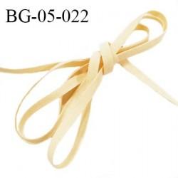 Galon lacette 05 mm ruban à plat façon cuir ou daim couleur beige largeur 05 mm prix au mètre