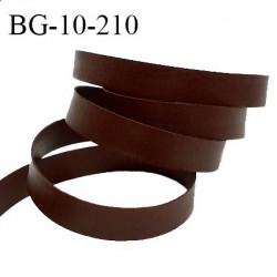 Galon lacette 10 mm ruban à plat façon cuir couleur marron largeur 10 mm prix au mètre
