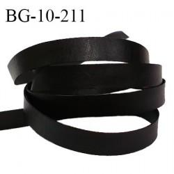 Galon lacette 10 mm ruban à plat façon cuir couleur noir largeur 10 mm prix au mètre