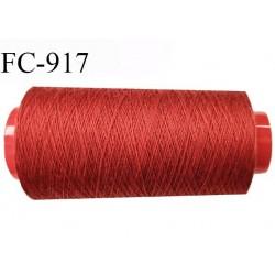 Cone 1000 m fil Polyester fil n°100 Coats épic couleur rouge safrané longueur du cône 1000 m bobiné en France