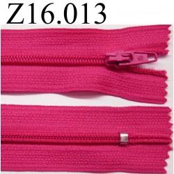 fermeture éclair longueur 16 cm couleur rose fushia non séparable zip nylon largeur 2.5 cm