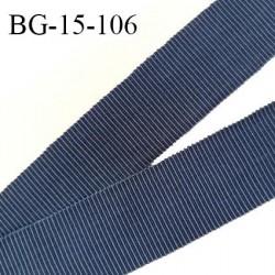 Galon ruban 15 mm gros grain 100% coton couleur bleu largeur 15 mm prix au mètre