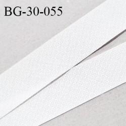 Biais à plier 30 mm synthétique couleur blanc avec motifs gris en transparence largeur 30 mm prix au mètre
