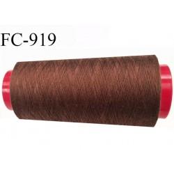 Cone 1000 m fil Polyester fil n°120 Coats épic couleur marron clair longueur du cône 1000 m bobiné en France