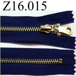 fermeture éclair longueur 16 cm couleur bleu non séparable zip métal largeur 3.2 cm