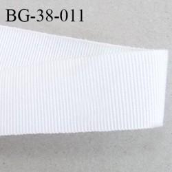 Galon ruban 38 mm gros grain couleur écru très très solide et souple polyester largeur 38 mm prix au mètre
