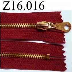 fermeture éclair longueur 16 cm couleur rouge non séparable zip métal largeur 3.2 cm