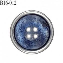 Bouton 16 mm en pvc couleur bleu et gris diamètre 16 mm épaisseur 4 mm prix à l'unité