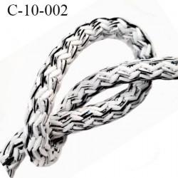Cordon rond 10 mm synthétique couleur blanc noir gris très solide fabriqué Europe diamètre 10 mm prix au mètre