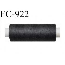Bobine 500 m fil Polyester n° 120  gris foncé 500 mètres fil européen bobiné en Europe ou France certifié oeko tex