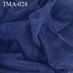 Marquisette tulle spécial lingerie haut de gamme couleur bleu marine largeur 140 cm prix pour 10 cm