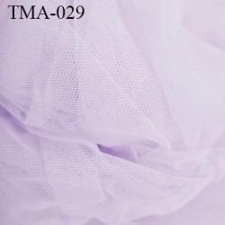 Marquisette tulle spécial lingerie haut de gamme couleur lilas clair largeur 140 cm prix pour 10 cm