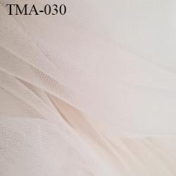 Marquisette tulle spécial lingerie haut de gamme couleur perle rosé largeur 140 cm prix pour 10 cm 100 % polyamide