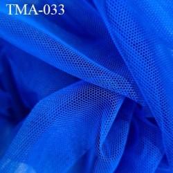 Marquisette tulle spécial lingerie haut gamme couleur bleu largeur 140 cm prix pour 10 cm 100 % polyamide