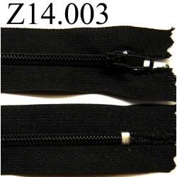 fermeture éclair longueur 13 cm couleur noir non séparable zip nylon largeur 2.2 cm