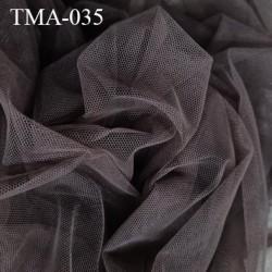 Marquisette tulle spécial lingerie haut gamme couleur chocolat largeur 140 cm prix pour 10 cm 100 % polyamide