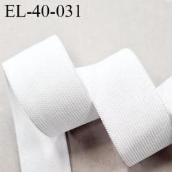 Elastique 40 mm plat belle qualité couleur naturel polygomme  forte élasticité fabriqué en France largeur 40 mm prix au mètre