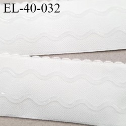 Elastique 40 mm picot  lingerie anti-glisse haut de gamme couleur écru largeur 40 mm fabriqué en France prix au mètre