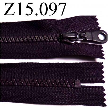 fermeture zip glissi re longueur 15 cm couleur violet fonc prune non s parable zip nylon. Black Bedroom Furniture Sets. Home Design Ideas