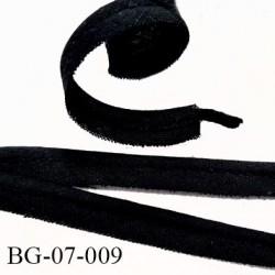 Passepoil 10 mm couleur noir 100 % coton largeur 7 mm  lien coton intérieur 2 mm  largeur 10 mm  prix du mètre