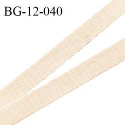 Devant bretelle 12 mm en polyamide attache bretelle rigide pour anneaux couleur nude haut de gamme doux au toucher prix au mètre