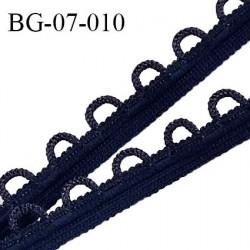 Galon boutonnière 7 mm spécial lingerie couleur bleu marine grande marque fabriqué en France prix au mètre