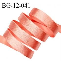 Devant bretelle 12 mm en polyamide attache bretelle rigide pour anneaux couleur rose orangé brillant haut de gamme prix au mètre
