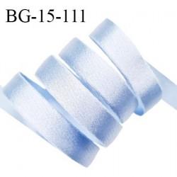Devant bretelle 15 mm en polyamide attache bretelle rigide pour anneaux couleur bleu ciel brillant haut de gamme prix au mètre