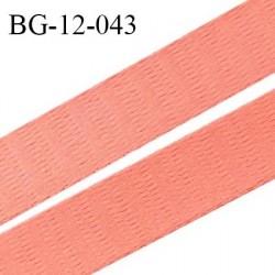 Devant bretelle 12 mm en polyamide attache bretelle rigide pour anneaux couleur rose orangé haut de gamme prix au mètre