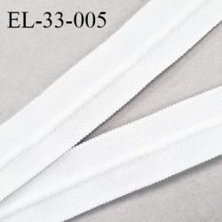 Elastique 33 mm plat fronceur ou à smock avec cordon intérieur 5 mm couleur écru largeur 33 mm prix au mètre