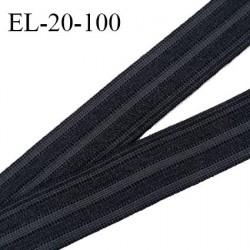 Elastique polygomme 20 mm couleur noir haut de gamme smock séchage rapide largeur 20 mm prix au mètre