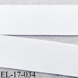 Elastique petit grain 16 mm lingerie couleur blanc fabriqué en France bonne élasticité largeur 16 mm prix au mètre