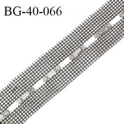 Galon strass 40 mm couleur noir et strass style diamant largeur 40 mm prix au mètre