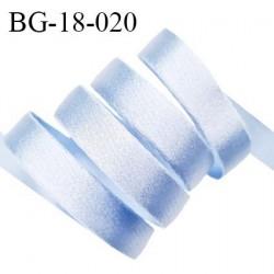 Devant bretelle 18 mm en polyamide attache bretelle rigide pour anneaux couleur bleu ciel brillant prix au mètre