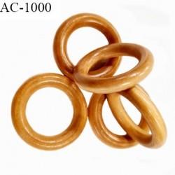 Anneau en bois vernis couleur bois clair diamètre extérieur 35 mm diamètre intérieur 22 mm épaisseur 6.5 mm prix à l'unité