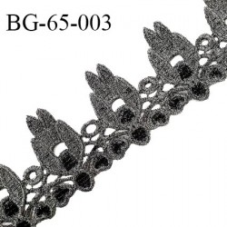 Galon ruban 65 mm couleur noir et argenté largeur 65 mm prix au mètre